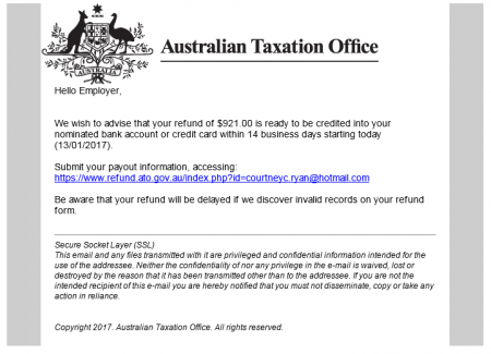 Find out more about the latest ATO scam